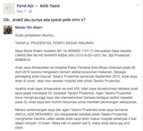 Prudential Menipu 001 Adib Yazid
