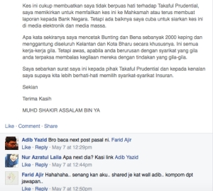 Prudential Menipu 004 Adib Yazid