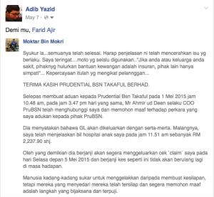 Prudential Menipu Counter 001 Adib Yazid