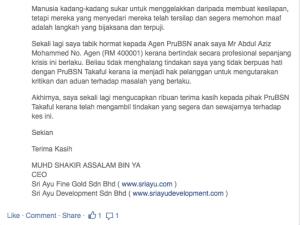Prudential Menipu Counter 002 Adib Yazid